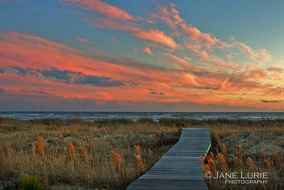 Sunset and Boardwalk, Kiawah Island, SC
