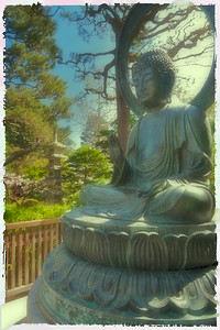 Buddha. Japanese tea garden, Golden Gate Park.