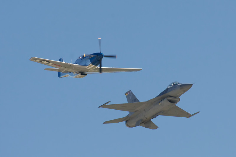 Heritage flight, Mustang and Falcon.