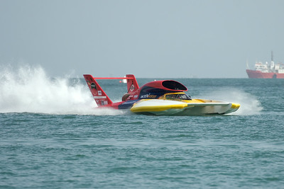Unlimited Hydroplane U-17, Our Gang Racing LLC, competes in 2009 Oryx Cup, Doha Bay, Qatar.