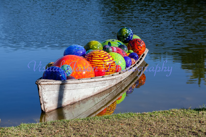 Boatload of Chihuly Spheres