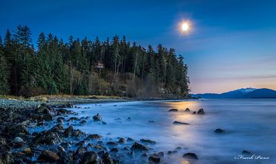 Shrine by moon light