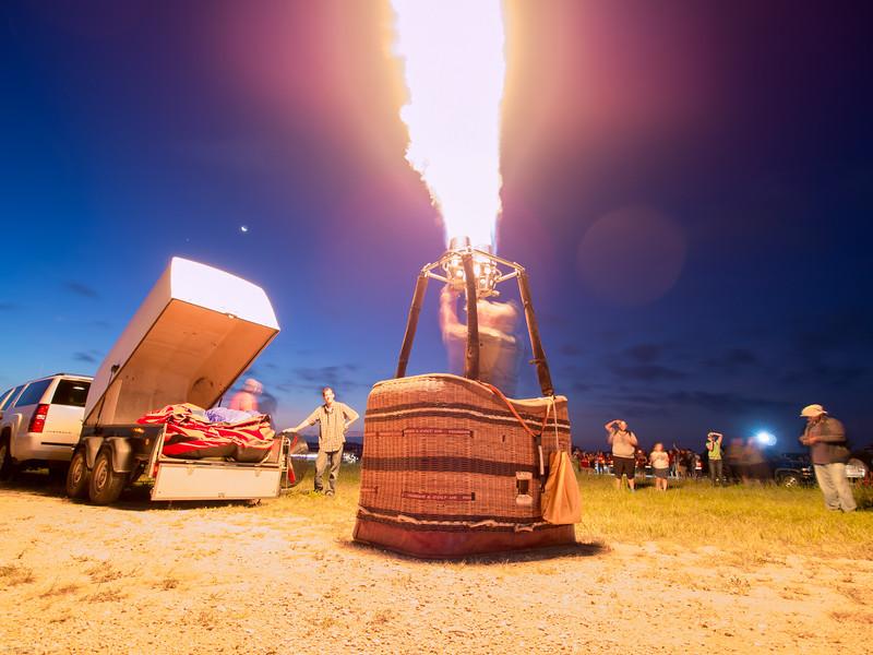 The 2013 Lake Travis Hot Air Balloon Flyover at Mansfield Dam Park
