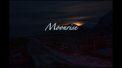 The Moonrise at Russelv (Tromso, Norway)
