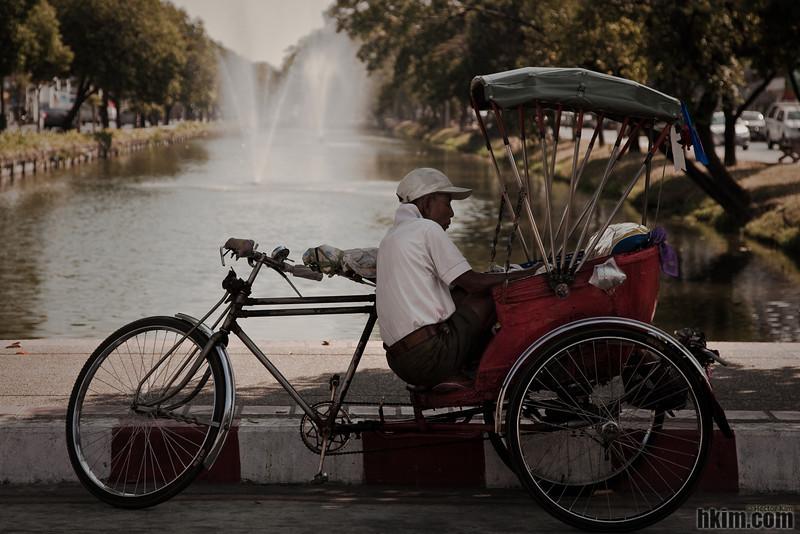 A Rickshaw Man's Break<br /> Chiang Mai, Thailand