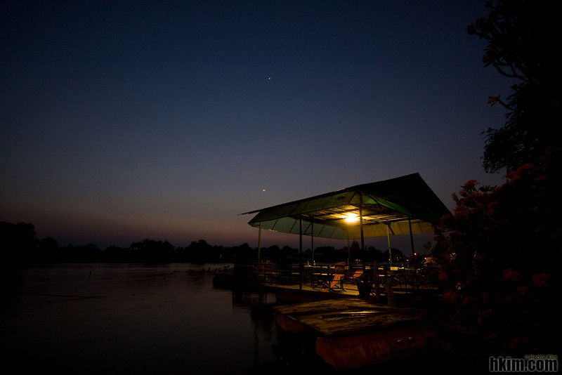 River Kwai at Night<br /> Kanchanaburi, Thailand