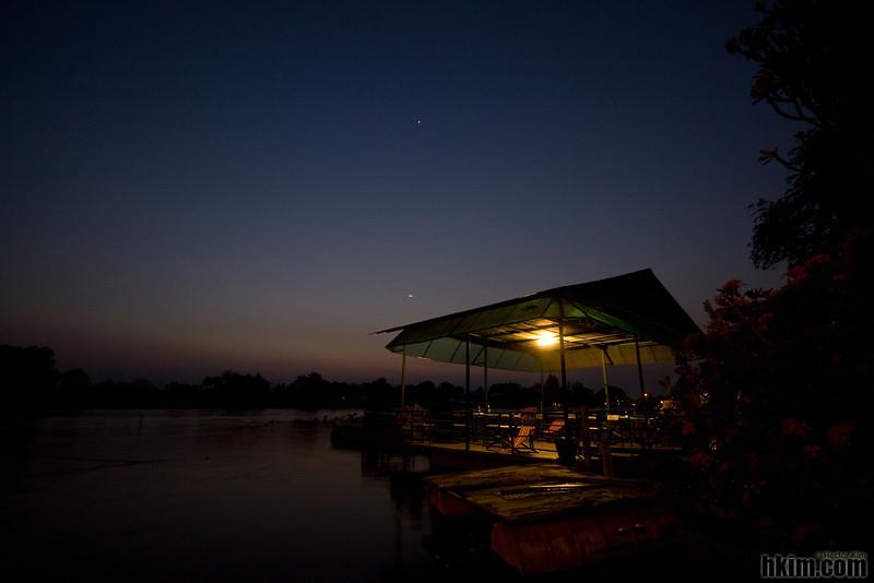 River Kwai at Night<br /> Kanchanaburi, Thailand