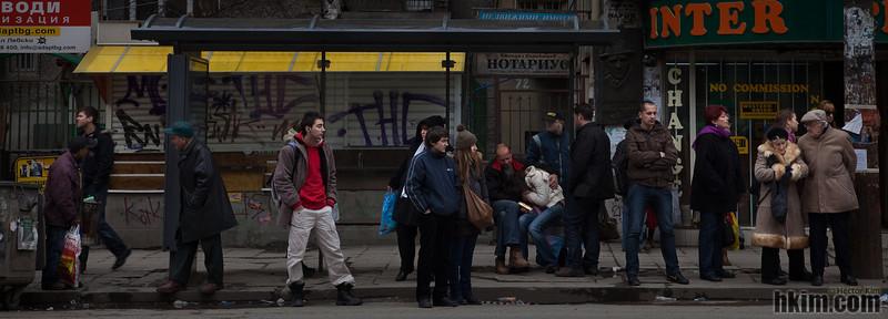 Bus Stop<br /> Sofia, Bulgaria