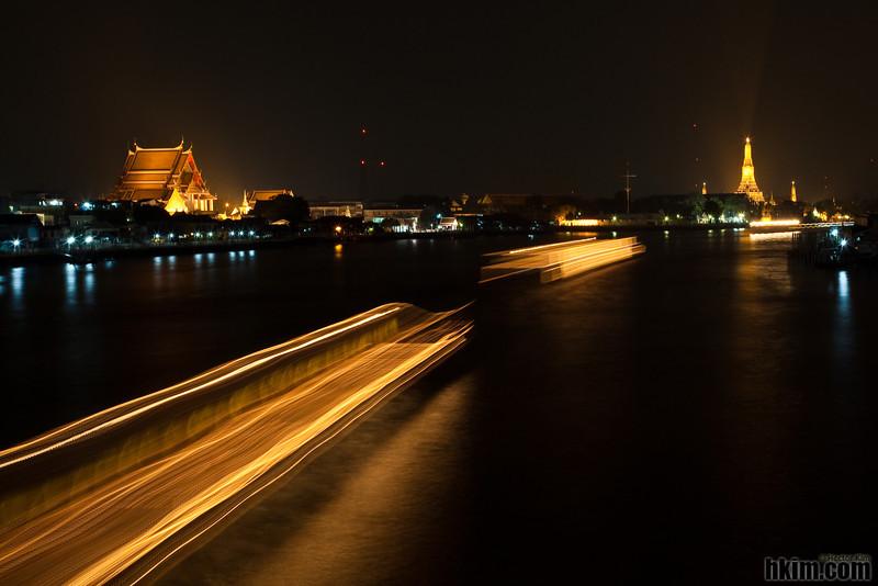 Chao Phraya River at Night<br /> Bangkok, Thailand