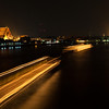 Chao Phraya River at Night<br /> Bangkok, Thailand