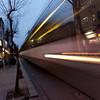 Tram in Blur<br /> Istanbul, Turkey