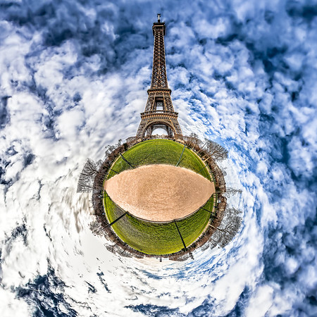 Eiffel Tower – (Champ de Mars Gardens)