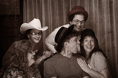 Friday September 28, 2012  Sometimes, you just gotta have a little fun. This is from July when we went to visit my Aunt Mary and my cousin, Michelle. Michelle and I think of each other as so much more than cousins. We are sisters sharing the same childhood memories. But we live so far from each other now and seldom get to see each other.   I'm not thrilled with the glare off Celine's glasses. But I can live with it. Have you ever really thought about the moments in your life you remember the most clearly? I don't remember the milestone moments very well. They are kind of foggy. But I remember the moments of laughter and tears with absolute clarity. I'll remember this moment for the rest of my life. So even with the glare on the glasses, I'm glad David got this shot. It's priceless.