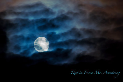 "Saturday September 1, 2012  The moon once seemed so far away. Goodnight and goodbye to a man who spent the days of his life changing worlds.  Our night light has never been so blue as on the night of his burial.  (Note: I am not sure if ""Mr."" is the proper title for Neil Armstrong. I suspect not. But I have been unsuccessful in finding reference to an official title for him. Everything seems to refer to him with no title other than his name.)"