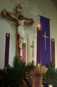 "11-29-2009  1st Sunday of Advent  ""O come, O come, Emmanuel And ransom captive Israel That mourns in lonely exile here Until the Son of God appear. Rejoice! Rejoice! Emmanuel Shall come to thee, O Israel."""