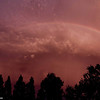 A Rainbow Trailing an Unusual Summer Thunder Storm in Davis CA