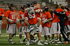 Hobart scores 4 consecutive goals in the last 8 minutes to stun Syracuse in a huge upset by the score of 13-12.  April, 16, 2013, Carrier Dome, Syracuse, NY.