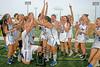 Bartram Trail shocks the Florida lacrosse world by knocking off Vero Beach 8-7 in the state championship game.  Vero Beach was attempting to win their 9th consecutive state title but the Bears ended those thoughts when senior Lexi Marcionette scored with less then 8 seconds left in overtime and a wild celebration ensued.  April 30, 2016.  Jupiter High School, Jupiter, FL.