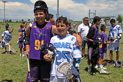 Israel's U-13 Boys won a friendly 7-5 against the Iroquois Nationals at the conclusion of the World Series of Youth Lacrosse but the real heartwarming story was watching the 2 Nations interact afterwards complete with a typical lax gear swap.  July 4, 2017.  Dick's Sporting Goods Park, Denver, Colorado.