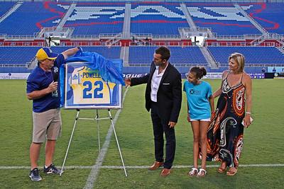 The Florida Launch of Major League Lacrosse retire Casey Powell's iconic #22.  July 15, 2017.  FAU Stadium, Boca Raton, Florida.