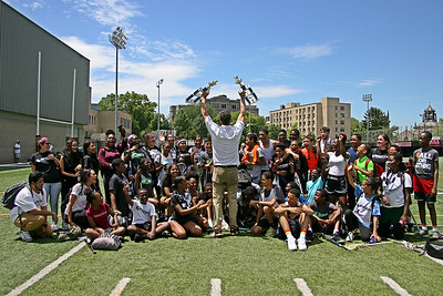 Bronx Lacrosse's Highbridge Green School won both boys and girls MSAL City Championships marking the first time a Bronx middle school won the City title.  June 15, 2019, Murphy Field at Fordham University, Bronx, NY