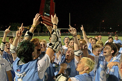 Ponte Vedra celebrates their first Florida State Championship after a 9 goal 3rd quarter propeled them to a 19-7 victory over St. Thomas Aquinas.  May 11, 2019, Boca Raton High School, Boca Raton, FL