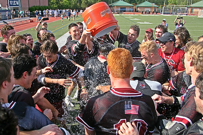 South Carolina celebrates with a Gatorade Dunk after their 11-7 victory over Georgia Tech earned them the SELC title.  The Gamecocks would later go on to win the MCLA National Championship with a 13-8 win over California.  April 28, 2019, Northview High School, Johns Creek, GA