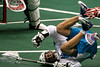 19 year old Johnny Powless scored many acrobatic goals in 2012 for the Rochester Knighthawks.  He notched 26 goals and won the NLL Sportsman Award in his rookie season.