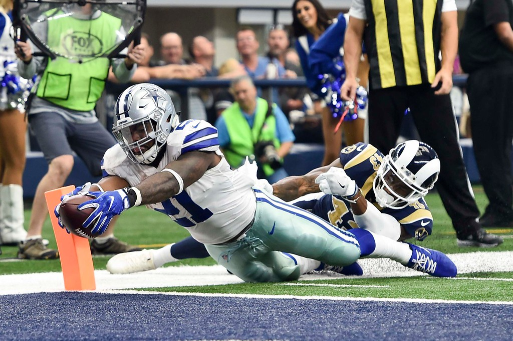 NFL Football 2017:  Rams vs Cowboys  OCT 1