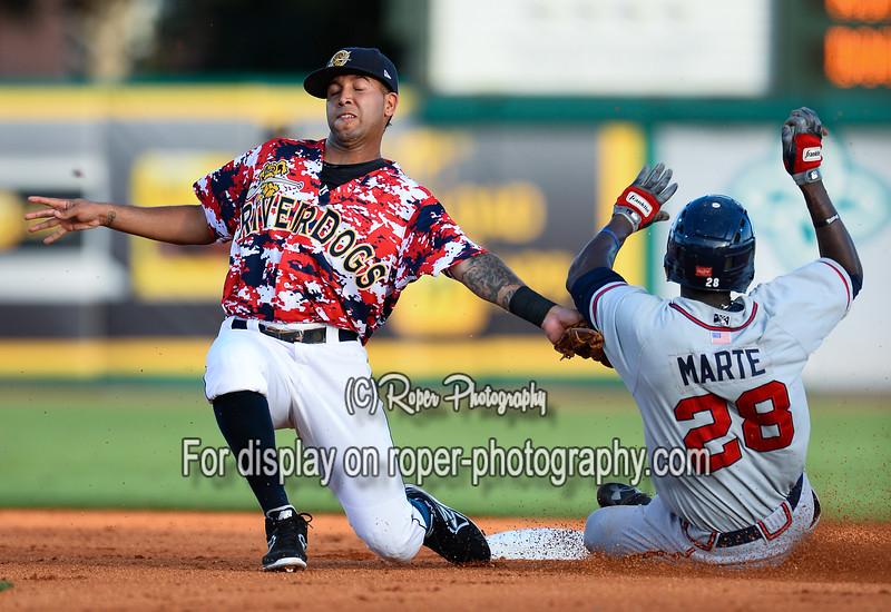 MILB Baseball 2013 - Rome Braves defeat Charleston RiverDogs 5-0