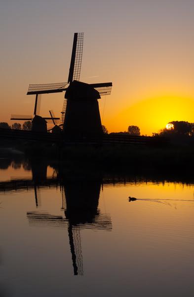 Dutch Canal at Sunrise