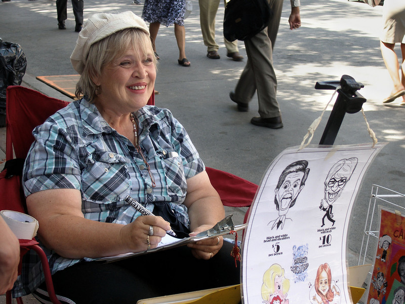 Caricaturist, Buskerfest 2008