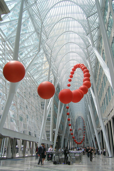 long wave by David Rokeby at Brookfield Place, Luminato 2009, Toronto