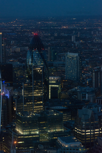 The Gherkin from the Shard