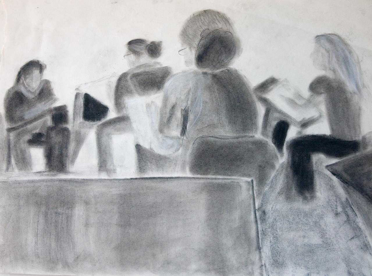 Class Portrait - Charcoal