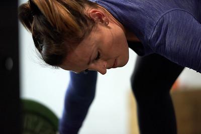 Workout closeup