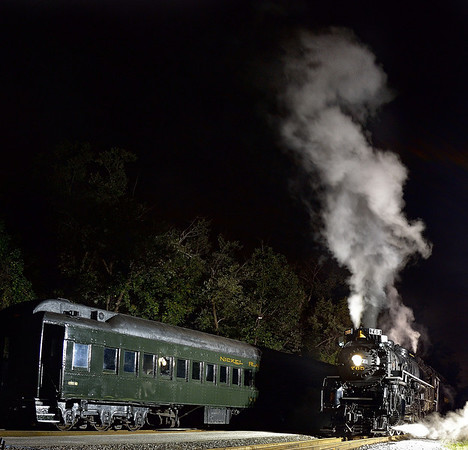 Night Shots of the 765 Steam Engine