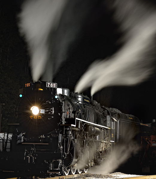 A Cool and Windy Night - Night Shots of the 765 Steam Engine