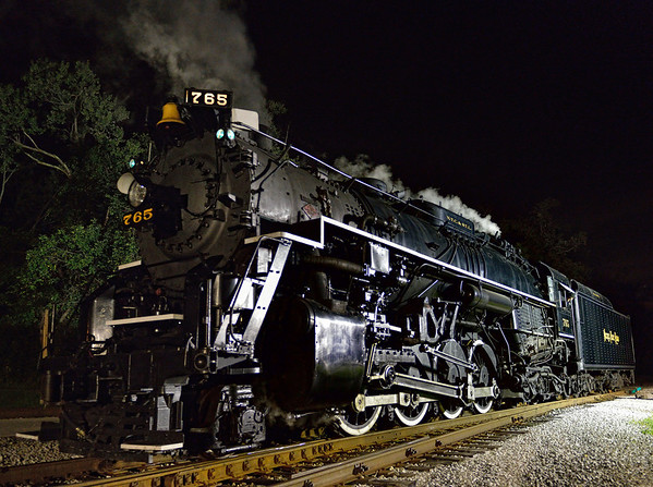 Night Shots of the 765 Steam Engine