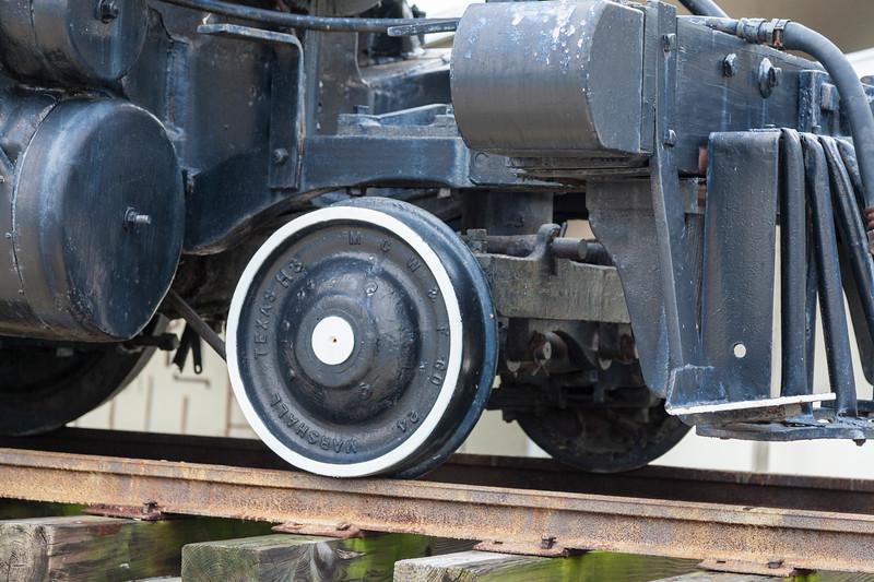 Waco, Beaumont, Trinity & Sabine RR No. 1, Steam Engine on display at Galveston Railroad Museum.