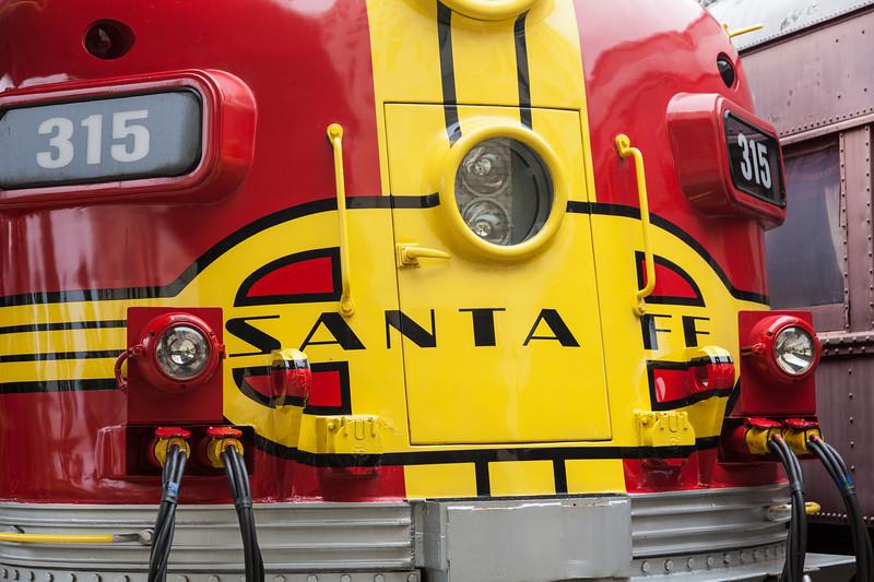 Santa Fe Diesel Engine # 315 at Galveston Railroad Museum.