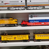 Railroad model trains at Galveston Railroad Museum.