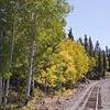 Cumbres and Toltec Narrow Gauge Railroad train tracks between Antonito, Colorado, and Chama, New Mexico.