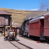Lunch stop at Osier, Colorado, on the Cumbres and Toltec Narrow Gauge Railroad.