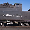 Steam Engine trains and railroad equipment at Cumbres and Toltec Narrow Gauge Train Depot at Antonito, Colorado.