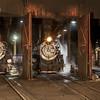 1925 Baldwin Steam Locomotives at night JN067386