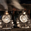 1925 Baldwin Steam Locomotives at night JN067375