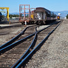 Steam Engine, Coal-fired, Narrow Gauge trains at Alamosa Depot. The Rio Grande Scenic Railroad operates tours from this Train Depot.