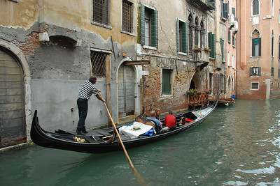Moving within Venice on the gondolas. Italy
