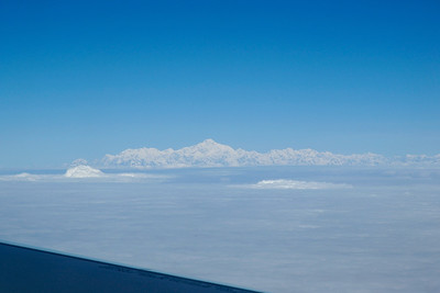 View of the Himalayas as seen when flying from Bhutan to India